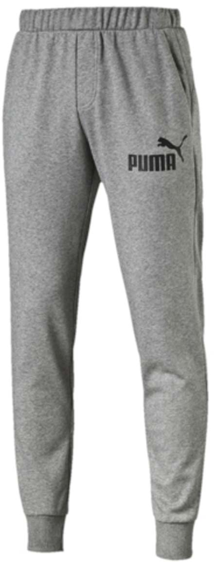 Брюки спортивные мужские Puma ESS No.1 Sweat PantsTR cl, цвет: серый. 838265_03. Размер M (48/50)838265_03Мужские спортивные брюки ESS No.1 Sweat Pants TR cl изготовлены из хлопка с добавлением полиэстера. Среди отличительных особенностей изделия - пояс с продернутыми затягивающимися шнурами, карманы в швах, нашитая сверху задняя кокетка для лучшей посадки по фигуре, а также отделка манжет по низу штанин трикотажем в резинку. Брюки декорированы прорезиненным логотипом PUMA.