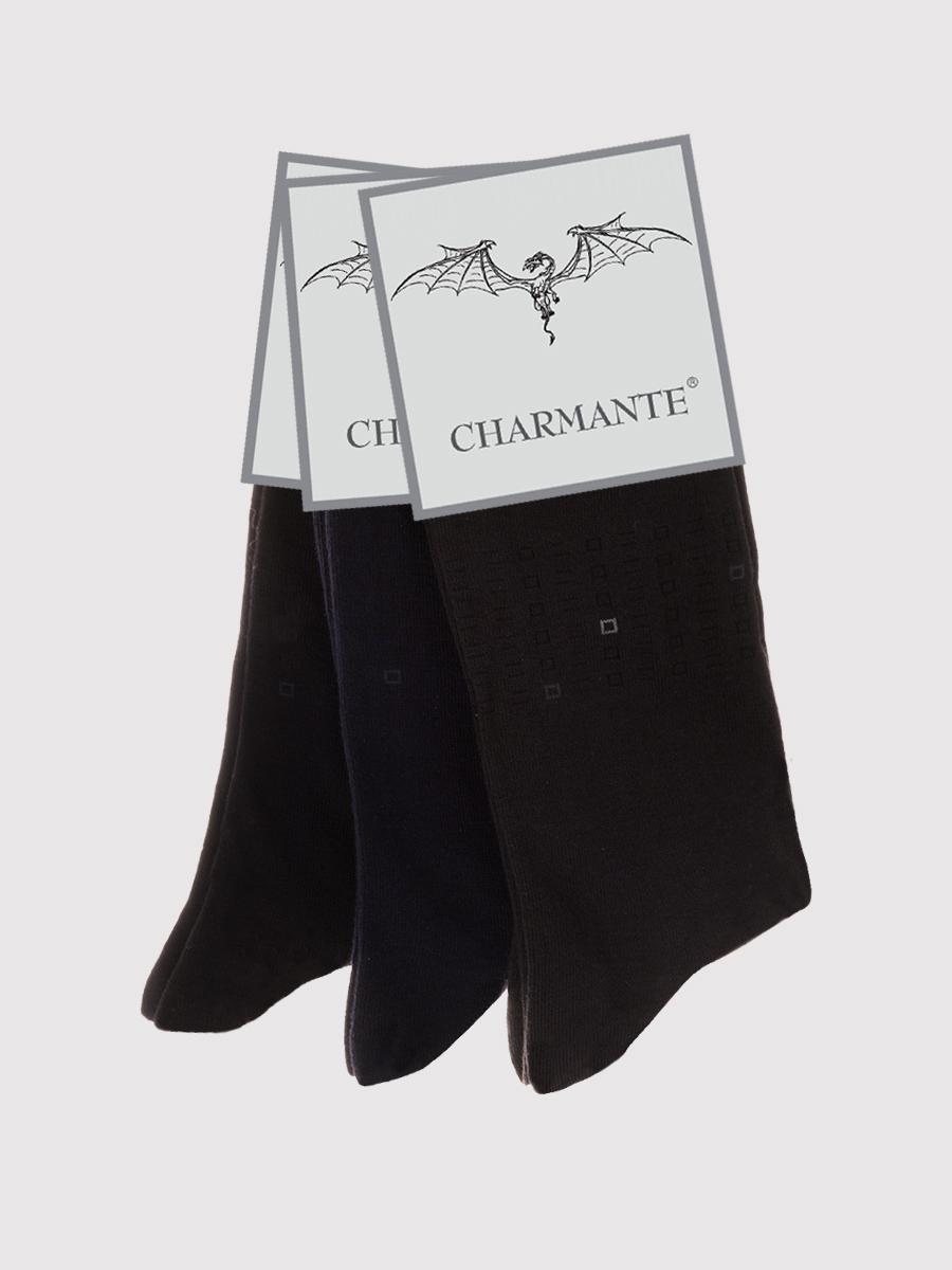 Носки мужские Charmante, цвет: черный. SCHM-1493. Размер 25-27 (39/41)SCHM-1493Мужские носки Charmante с удлиненным паголенком изготовлены из высококачественного материалаобеспечивающего великолепную посадку. Удобная широкая резинка идеально облегает ногу и не пережимает сосуды, усиленные пятка и мысок повышают износоустойчивость носка.