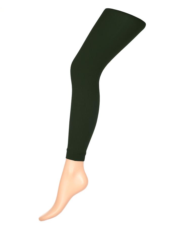 Леггинсы женские классические Charmante Glam 80, цвет: темно-зеленый. Размер L/XL (48/50)GLAM 80Стильные женские леггинсы с эффектом бархатистости. Модель имеет заниженную талию, хлопковую ластовицу и комфортный плоский шов.