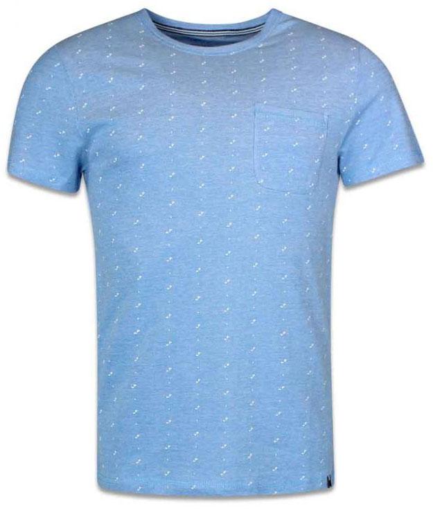 Футболка мужская Tom Tailor, цвет: голубой. 1037530.62.10_6723. Размер M (48)1037530.62.10_6723Мужская футболка Tom Tailor выполнена из хлопка. Модель с круглым вырезом горловины и стандартными короткими рукавами. Спереди дополнена накладным нагрудным карманом.