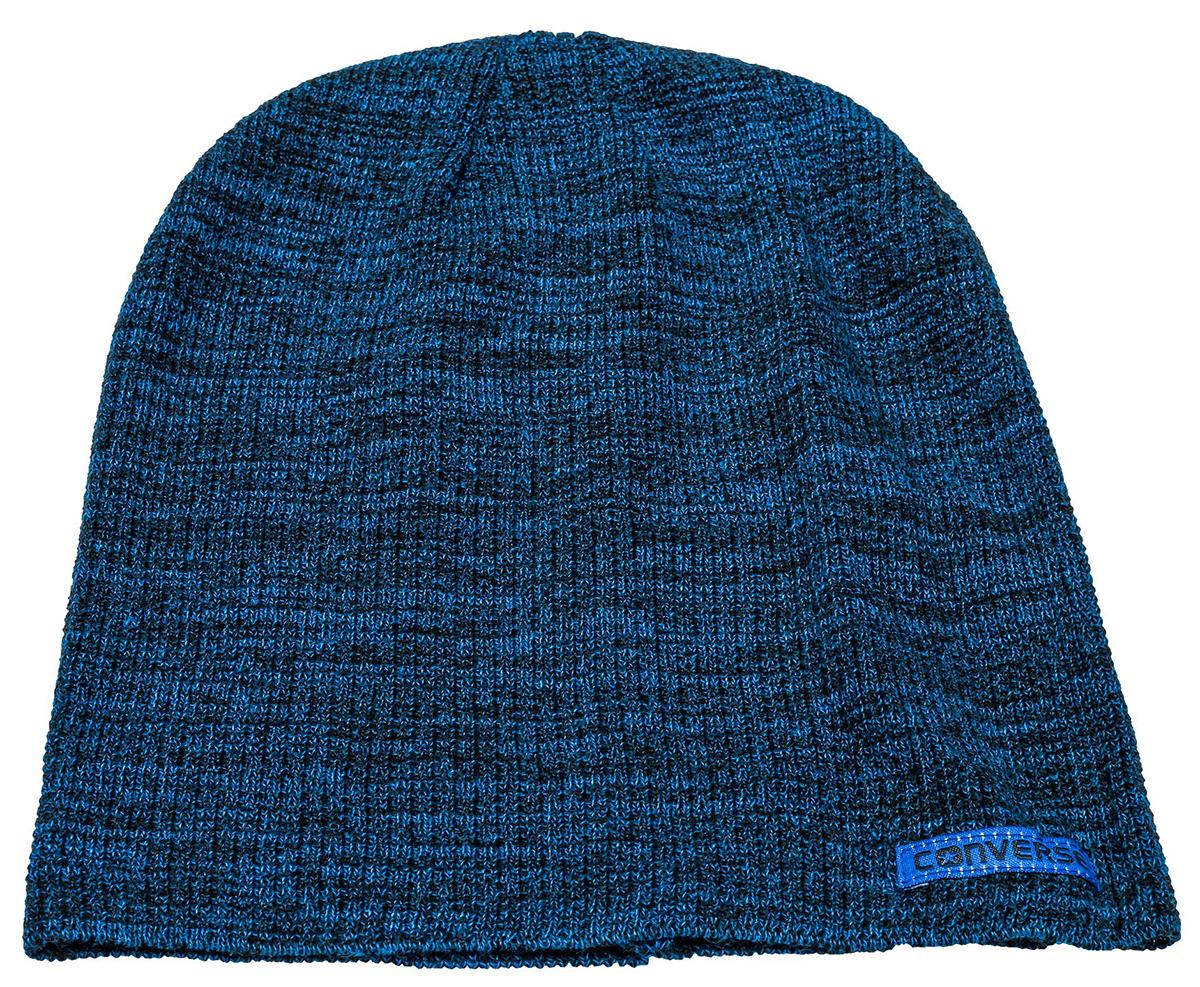 Шапка Converse Twisted Waffle Knit Beanie, цвет: синий. 531106. Размер универсальный531106Шапка Converse выполнена из качественного акрила. Модель дополнена нашивкой с названием бренда.