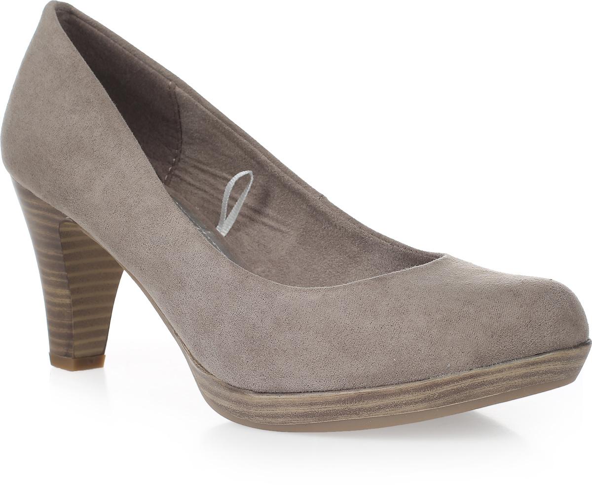 Туфли женские Marco Tozzi, цвет: коричневый. 2-2-22411-38-341/220. Размер 362-2-22411-38-341/220Элегантные женские туфли от Marco Tozzi займут достойное место в вашем гардеробе. Модель выполнена из высококачественного текстиля и исполнена в лаконичном стиле. Закругленный носок добавит женственности в ваш образ. Мягкая стелька - из искусственной кожи и подкладка - из текстиля, обеспечивают максимальный комфорт при движении. Высокий каблук устойчив. Подошва с рифлением защищает изделие от скольжения. Изысканные туфли добавят шика в модный образ и подчеркнут ваш безупречный вкус.