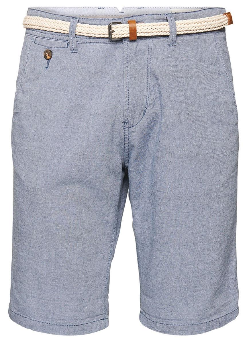 Шорты мужские Tom Tailor, цвет: серо-синий. 6404830.09.12_6740. Размер M (48)6404830.09.12_6740Стильные мужские шорты Tom Tailor, изготовленные из натурального хлопка, идеально подойдут для активного отдыха и прогулок. Материал приятный на ощупь, не сковывает движения и хорошо пропускает воздух. Шорты на поясе застегиваются на пластиковую пуговицу и имеют ширинку на застежке-молнии, а также шлевки для ремня. Модель дополнена ремнем с металлической пряжкой. Предусмотрены карманы. Модные шорты послужат отличным дополнением к вашему гардеробу. В них вы всегда будете чувствовать себя уверенно и комфортно.