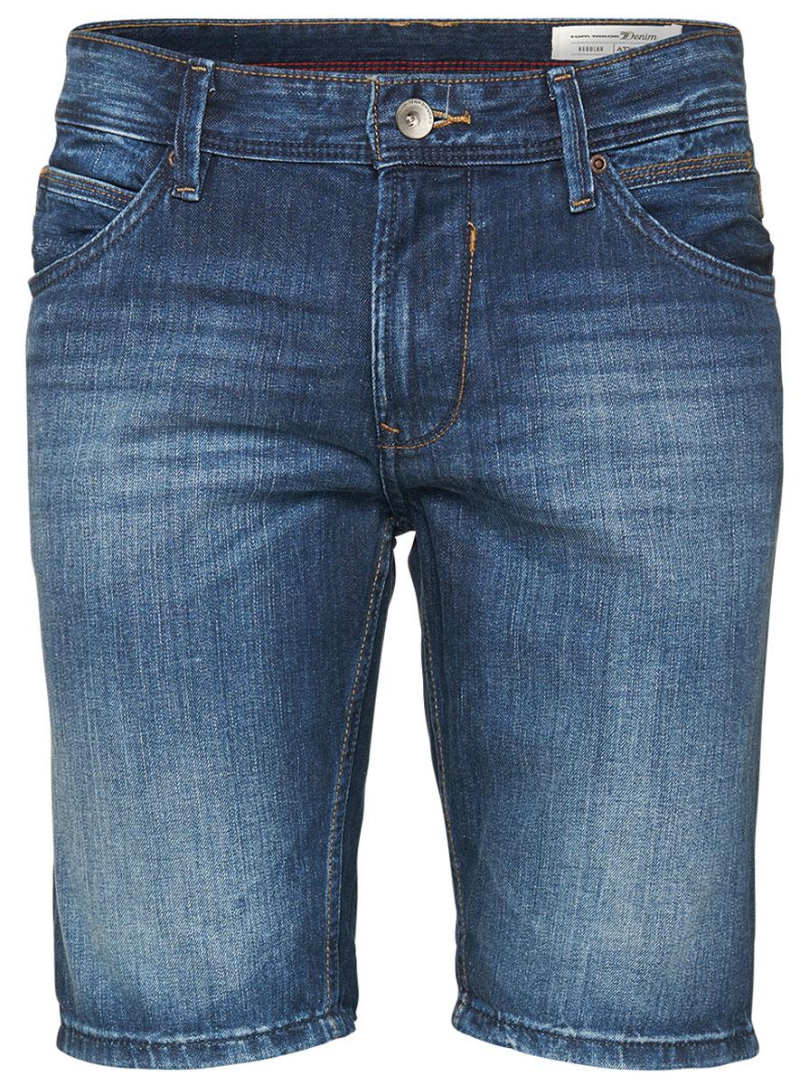 Шорты мужские Tom Tailor, цвет: синий. 6205293.09.12_1053. Размер S (46)6205293.09.12_1053Джинсовые шорты Tom Tailor выполнены из 100% хлопка. Модель прямого кроя застегивается на молнию и пуговицу, имеет шлевки для ремня и карманы.