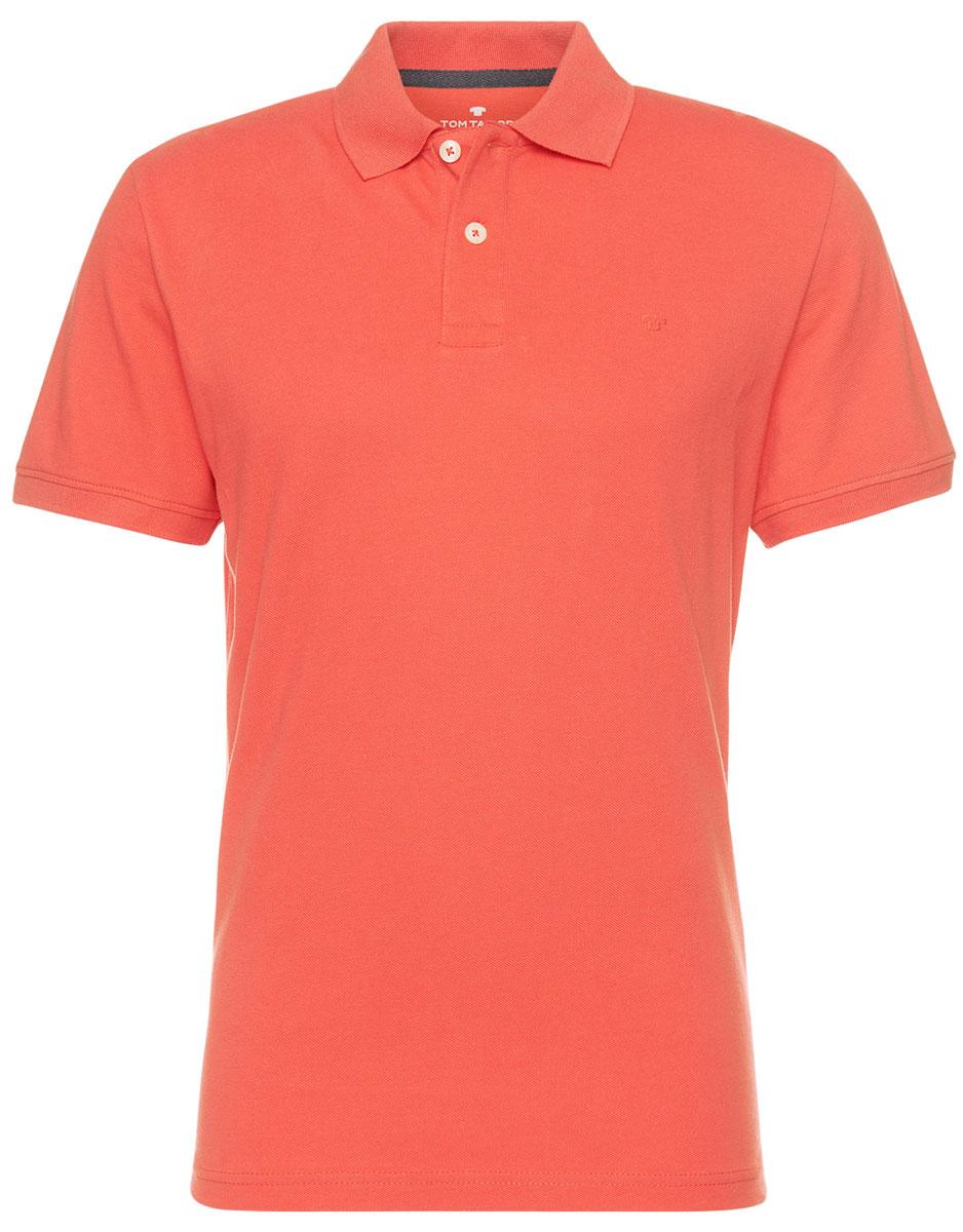 Поло мужское Tom Tailor, цвет: красный. 1531007.09.10_4481. Размер XL (52)1531007.09.10_4481Мужская футболка-поло Tom Tailor поможет создать отличный современный образ. Модель изготовлена из хлопка. Футболка-поло с короткими рукавами застегивается сверху на две пуговицы. Такая футболка станет стильным дополнением к вашему гардеробу, она подарит вам комфорт в течение всего дня!