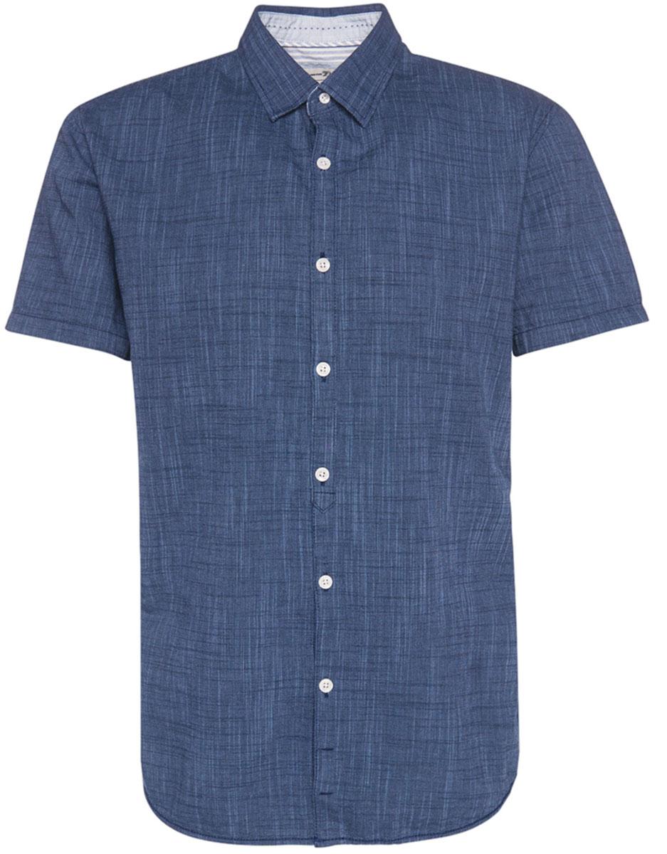 Рубашка мужская Tom Tailor, цвет: темно-синий. 2033704.00.12_6740. Размер L (50)2033704.00.12_6740Мужская рубашка Tom Tailor поможет создать отличный современный образ. Модель изготовлена из хлопка. Рубашка с отложным воротником и короткими рукавами застегивается по всей длине на пуговицы.Такая рубашка станет стильным дополнением к вашему гардеробу, она подарит вам комфорт в течение всего дня!