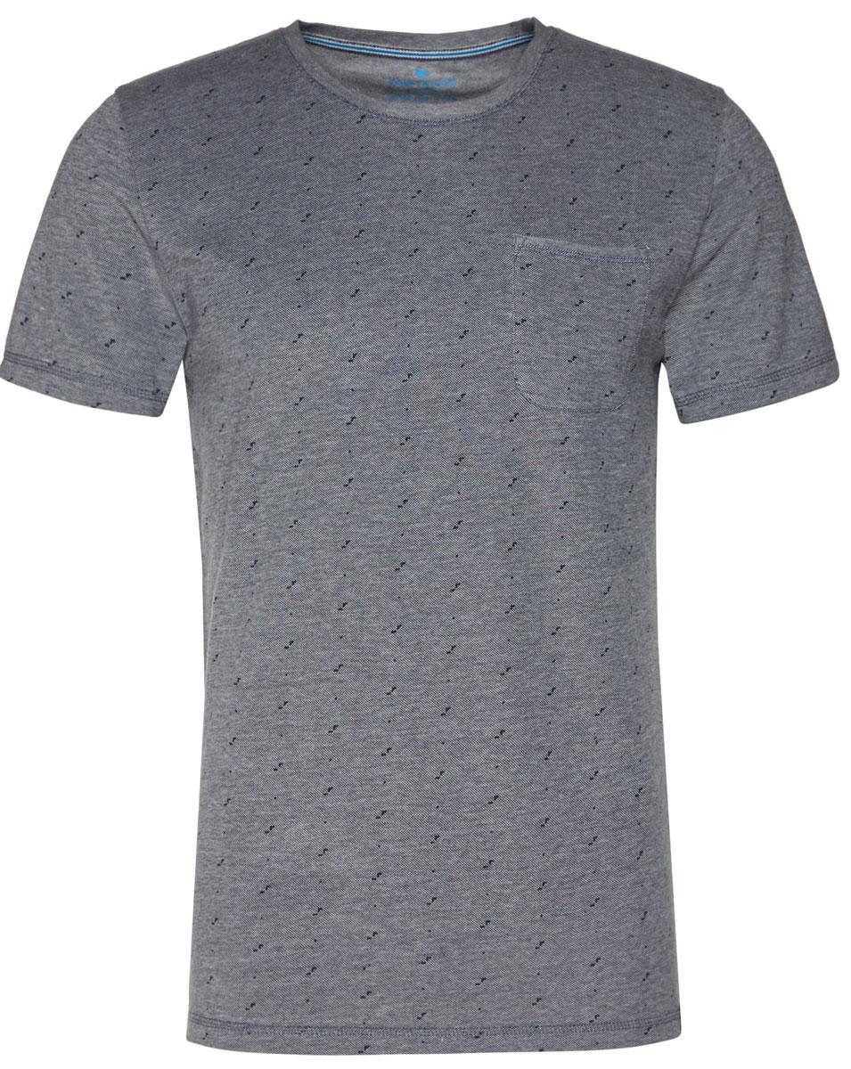Футболка мужская Tom Tailor, цвет: серый. 1037530.62.10_6740. Размер M (48)1037530.62.10_6740Мужская футболка Tom Tailor выполнена из хлопка. Модель с круглым вырезом горловины и стандартными короткими рукавами. Спереди дополнена накладным нагрудным карманом.