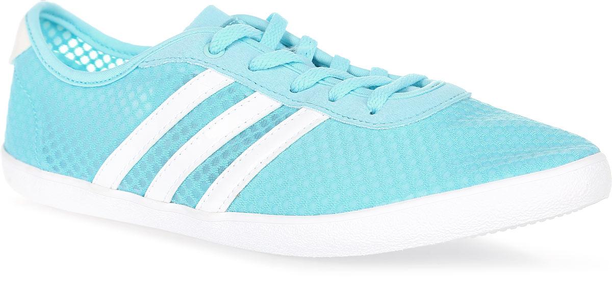 Кроссовки женские adidas Vs Qt Vulc Sea W, цвет: голубой. B74700. Размер 4,5 (36,5)B74700Женские кроссовки Аdidas выполнены из качественного текстиля. Обувь фиксируется на ноге при помощи классической шнуровки. Стелька cloudfoam для комфорта и мягкой амортизации. Резиновая подошва.