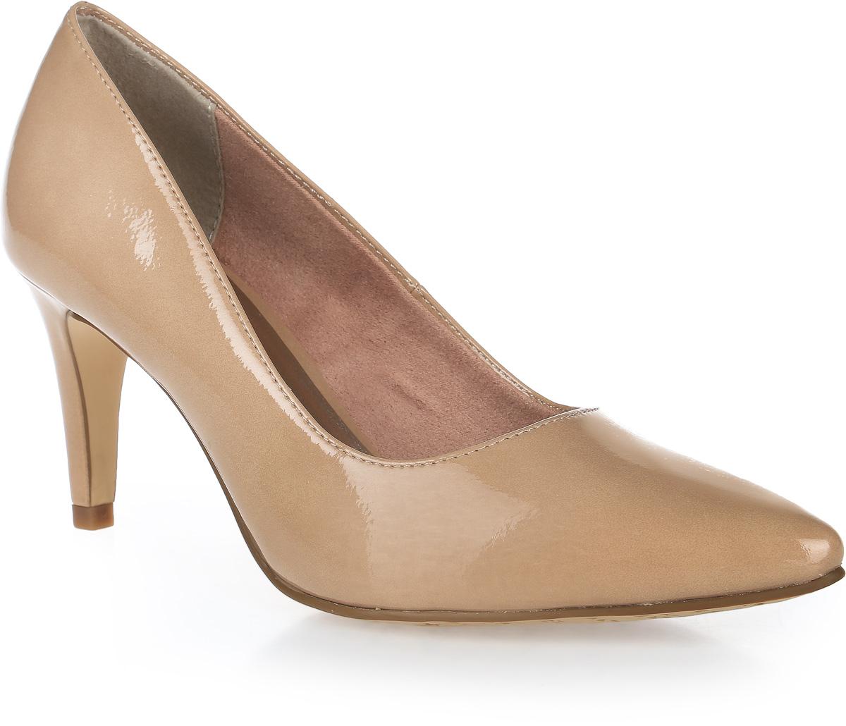 Туфли женские Tamaris, цвет: бежевый. 1-1-22447-28-253/220. Размер 361-1-22447-28-253/220Стильные женские туфли Tamaris придутся вам по душе!Модель выполнена из искусственной кожи. Невероятно мягкая съемная стелька из искусственной кожи гарантирует максимальный комфорт при движении и позволяет ногам дышать. Устойчивый каблук и подошва не скользят.Удобные туфли помогут вам создать яркий, запоминающийся образ и выделиться среди окружающих.
