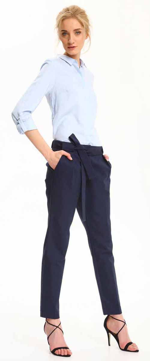 Рубашка женская Top Secret, цвет: голубой. SKL2306BL. Размер 42 (50)SKL2306BLРубашка женская Top Secret выполнена из 100% вискозы. Модель с отложным воротником застегивается на пуговицы.
