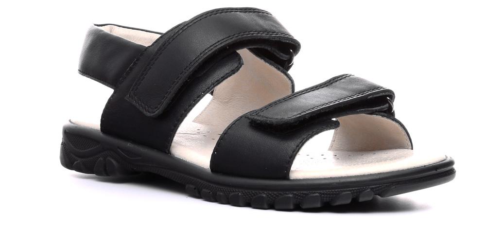 Сандалии для мальчика Ralf Ringer Zorg-D, цвет: черный. 600002ЧН. Размер 32600002ЧНСандалии для детей Zorg-D линии Weekend — простая и непритязательная обувь. Зато она может похвастаться высоким качеством и натуральной кожей. Благодаря классическому цвету их можно сочетать с детским гардеробом практически любой расцветки. Застежки-липучки делают процесс обувания и снятия сандалий удобным, быстрым и увлекательным.