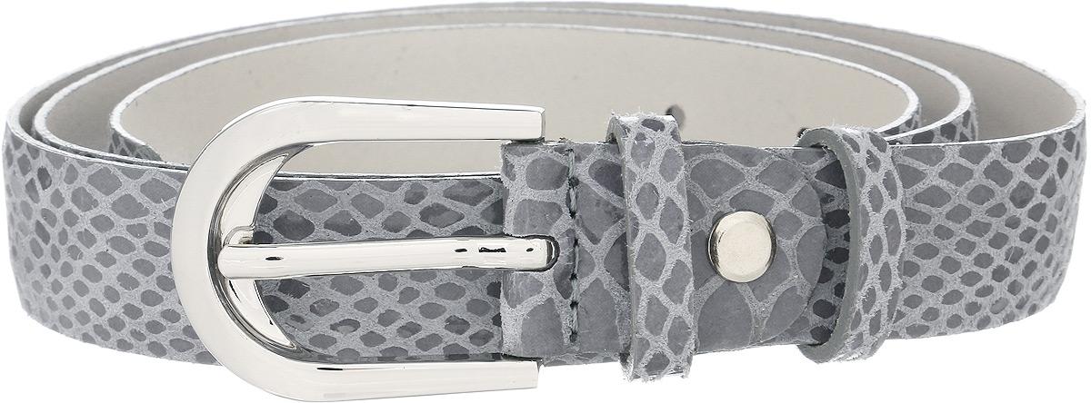 Ремень женский Vittorio Richi, цвет: серый. 1013-ZK1468/s. Размер 1051013-ZK1468/sРемень, выполненный из натуральной кожи. Длина регулируется.