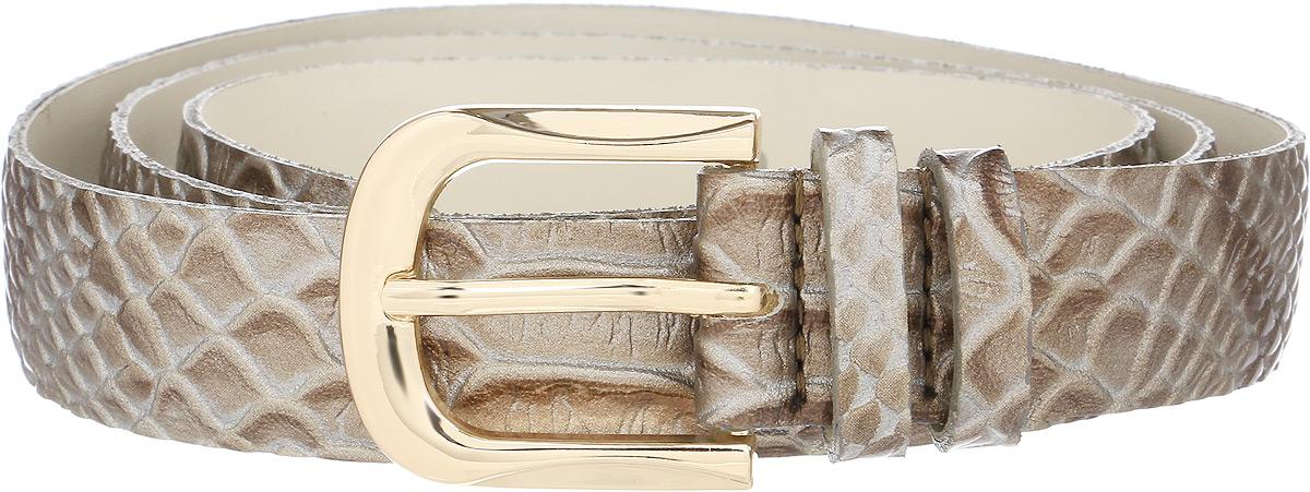 Ремень женский Vittorio Richi, цвет: бежевый. 1001-ZK1445/z. Размер 1051001-ZK1445/zРемень, выполненный из экокожи. Длина регулируется.