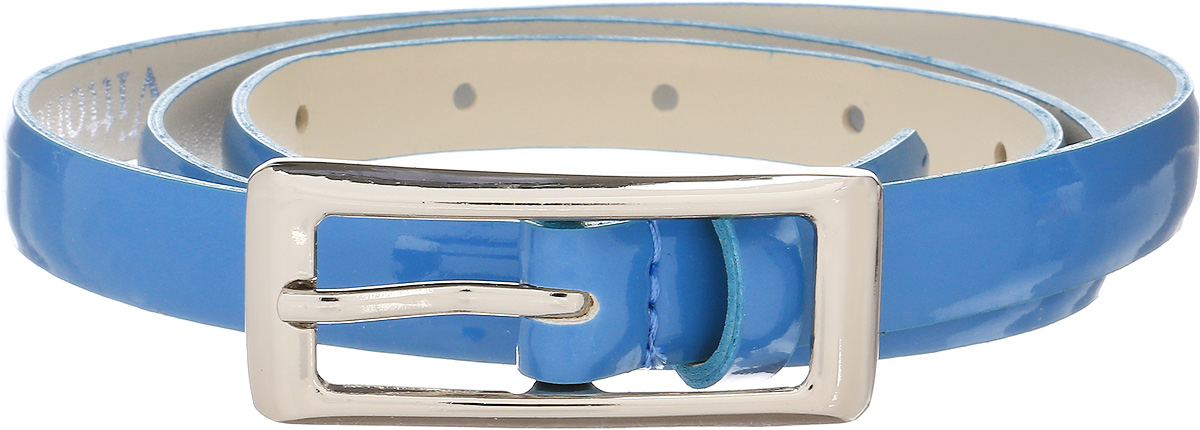 Ремень женский Vittorio Richi, цвет: голубой. 1004-RZ2079/s. Размер 1051004-RZ2079/sРемень, выполненный из экокожи. Длина регулируется.