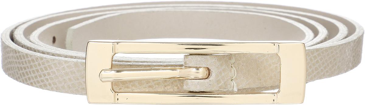 Ремень женский Vittorio Richi, цвет: светло-бежевый. 1014-RZ2090/z. Размер 1051014-RZ2090/zРемень, выполненный из натуральной кожи. Длина регулируется.