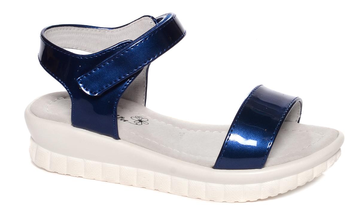 Босоножки для девочки Mursu, цвет: синий. 101751. Размер 33101751Босоножки для девочки Mursu выполнены из качественной искусственной кожи. Ремешок с липучкой обеспечит оптимальную посадку модели на ноге. Кожаная стелька придаст максимальный комфорт при движении. Подошва оснащена рифлением для лучшего сцепления с различными поверхностями.