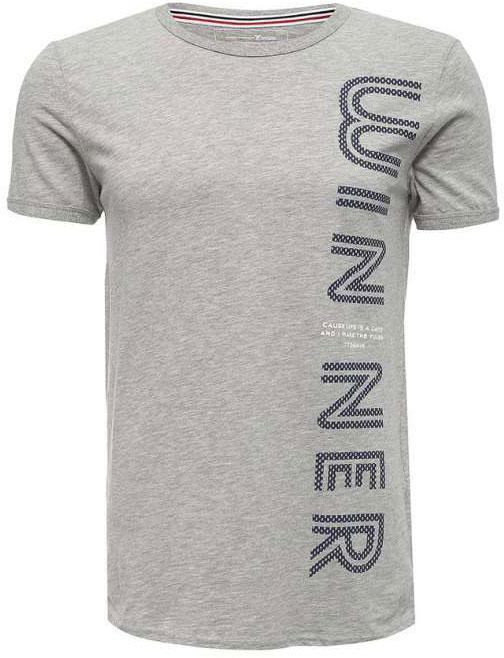 Футболка мужская Tom Tailor Denim, цвет: серый меланж. 1037252.03.12_2607. Размер S (46)1037252.03.12_2607Мужская футболка Tom Tailor Denim выполнена из натурального хлопка. Модель с круглым вырезом горловины и короткими рукавами оформлена крупной принтовой надписью.Такая футболка станет стильным дополнением к вашему гардеробу, она подарит вам комфорт в течение всего дня!