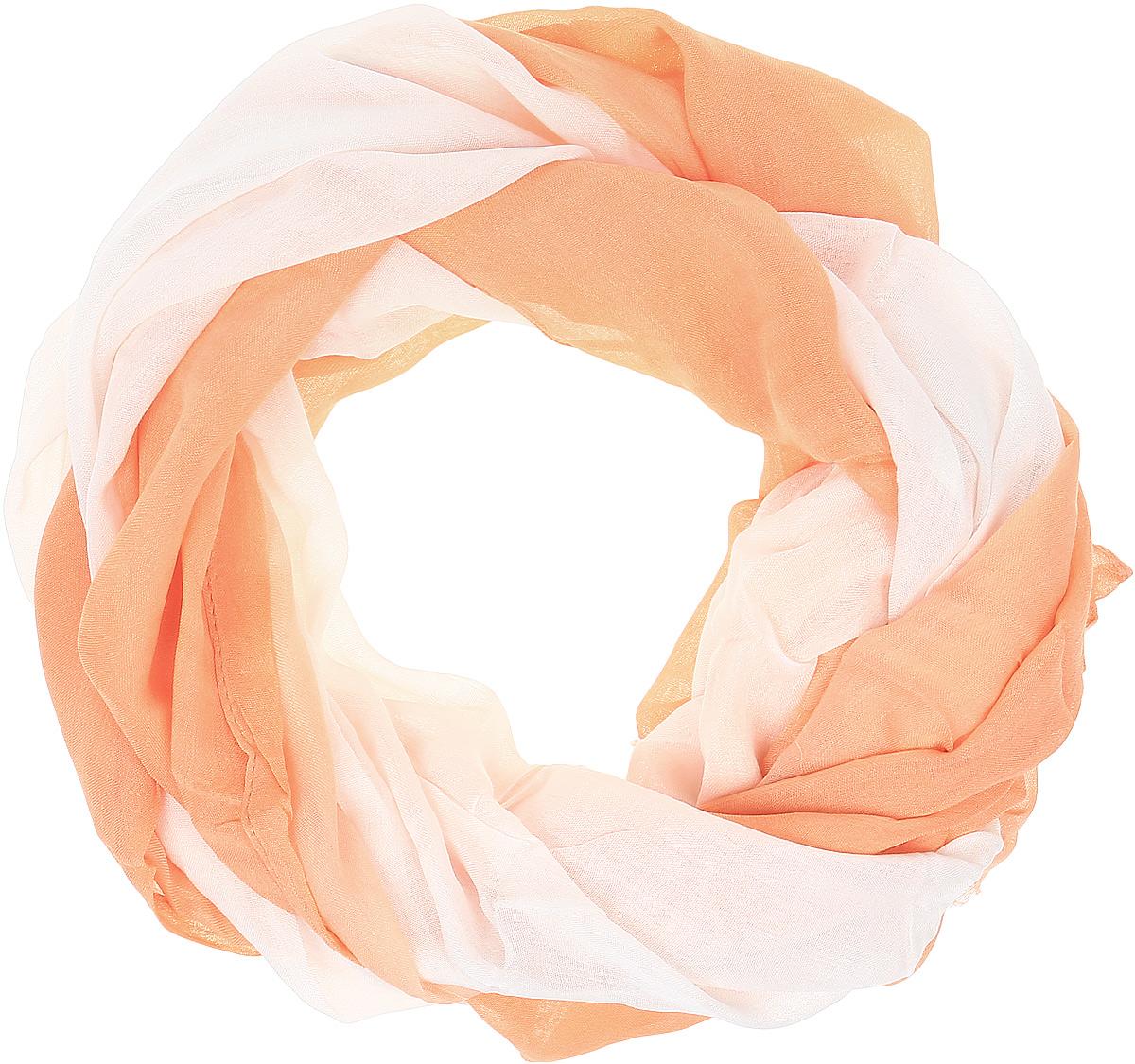 Палантин женский Vitta pelle, цвет: персиковый. Ro02PG1625/1. Размер 70 см х 180 смRo02PG1625/1Широкий палантин с переходом цвета. Отделка края - осыпка.