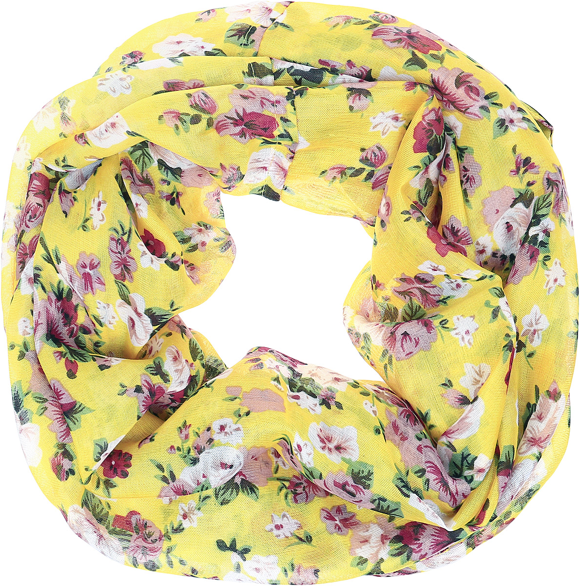 Снуд женский Vittorio Richi, цвет: желтый. Ro02PC3054/32-8. Размер 70 см х 90 смRo02PC3054/32-8Снуд из легкой хлопкоподобной ткани. Принт.