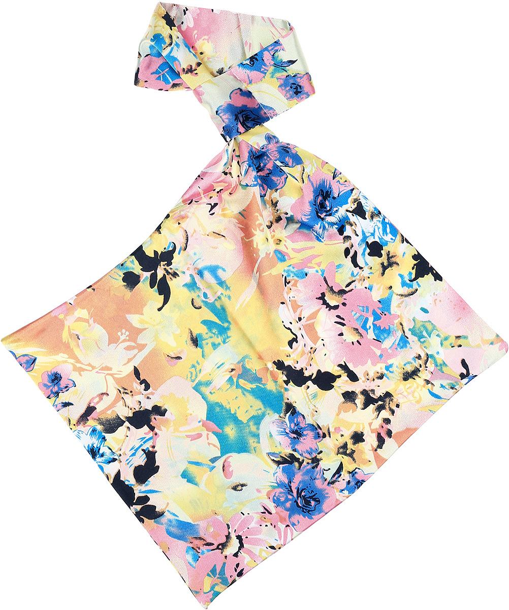 Палантин женский Vittorio Richi, цвет: голубой. Ro02А203/24-1. Размер 61 см х 33 смRo02А203/24-1Палантин - франтон (французкий галстук). Принт.