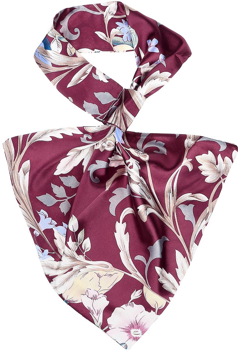 Палантин женский Vittorio Richi, цвет: белый. Ro02А203/13-2. Размер 61 см х 33 смRo02А203/13-2Палантин - франтон (французкий галстук). Принт.