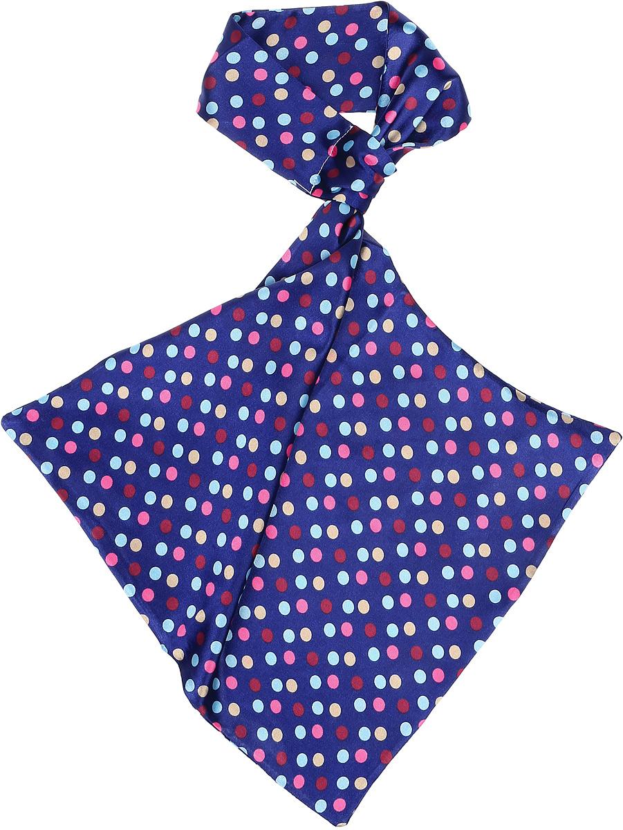 Палантин женский Vittorio Richi, цвет: синий. Ro02А203/23. Размер 61 см х 33 смRo02А203/23Палантин - франтон (французкий галстук). Принт.