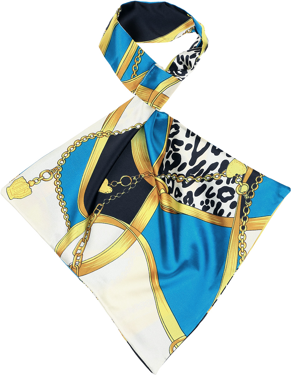 Палантин женский Vittorio Richi, цвет: желтый. Ro02А203/28-2. Размер 61 см х 33 смRo02А203/28-2Палантин - франтон (французкий галстук). Принт.