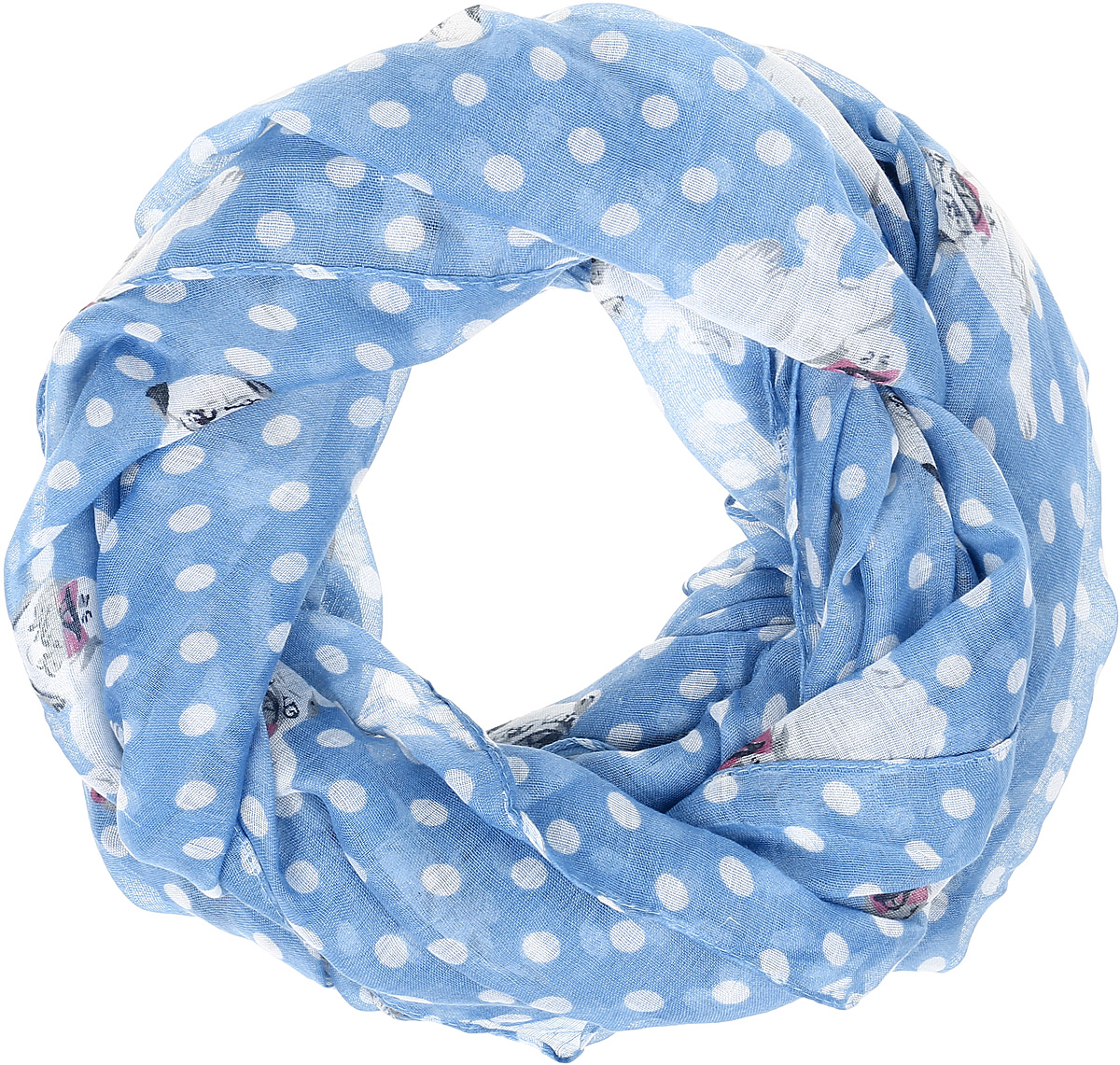 Палантин женский Vittorio Richi, цвет: голубой. Ro02РР1619/1-2. Размер 90 см х 180 смRo02РР1619/1-2Легкий широкий палантин с принтом.