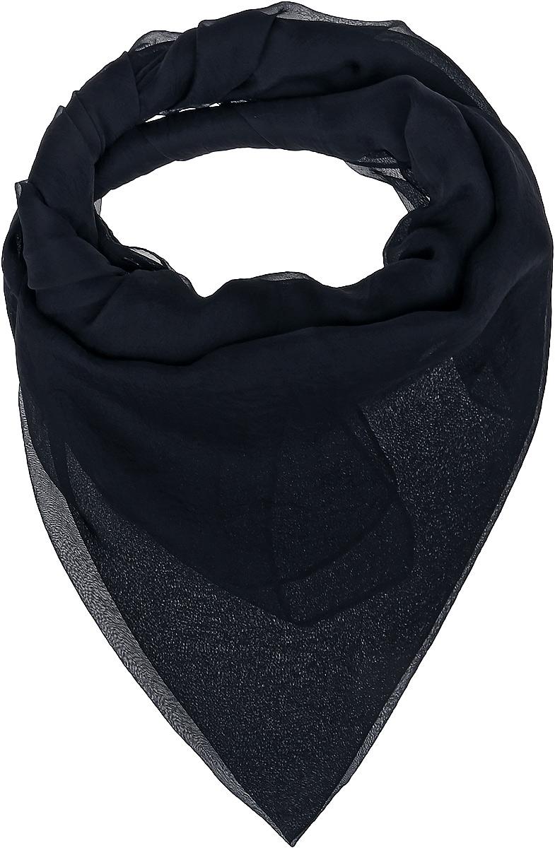 Платок женский Vittorio Richi, цвет: черный. Ro02FC834/1. Размер 130 см х 140 смRo02FC834/1Шаль из тонкой мягкой хлопкоподобной ткани.