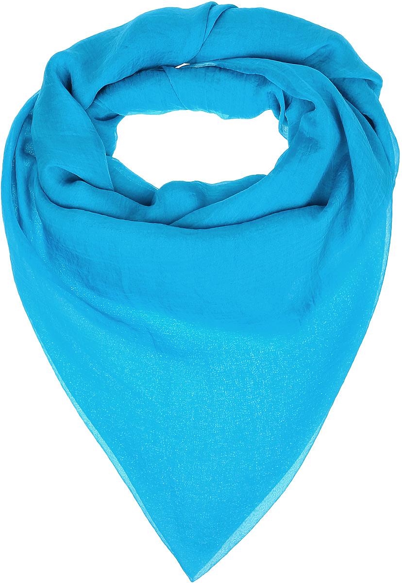 Платок женский Vittorio Richi, цвет: бирюзовый. Ro02FC834/46. Размер 130 см х 140 смRo02FC834/46Шаль из тонкой мягкой хлопкоподобной ткани.