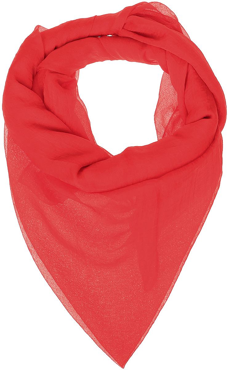 Платок женский Vittorio Richi, цвет: красный. Ro02FC834/21. Размер 130 см х 140 смRo02FC834/21Шаль из тонкой мягкой хлопкоподобной ткани.
