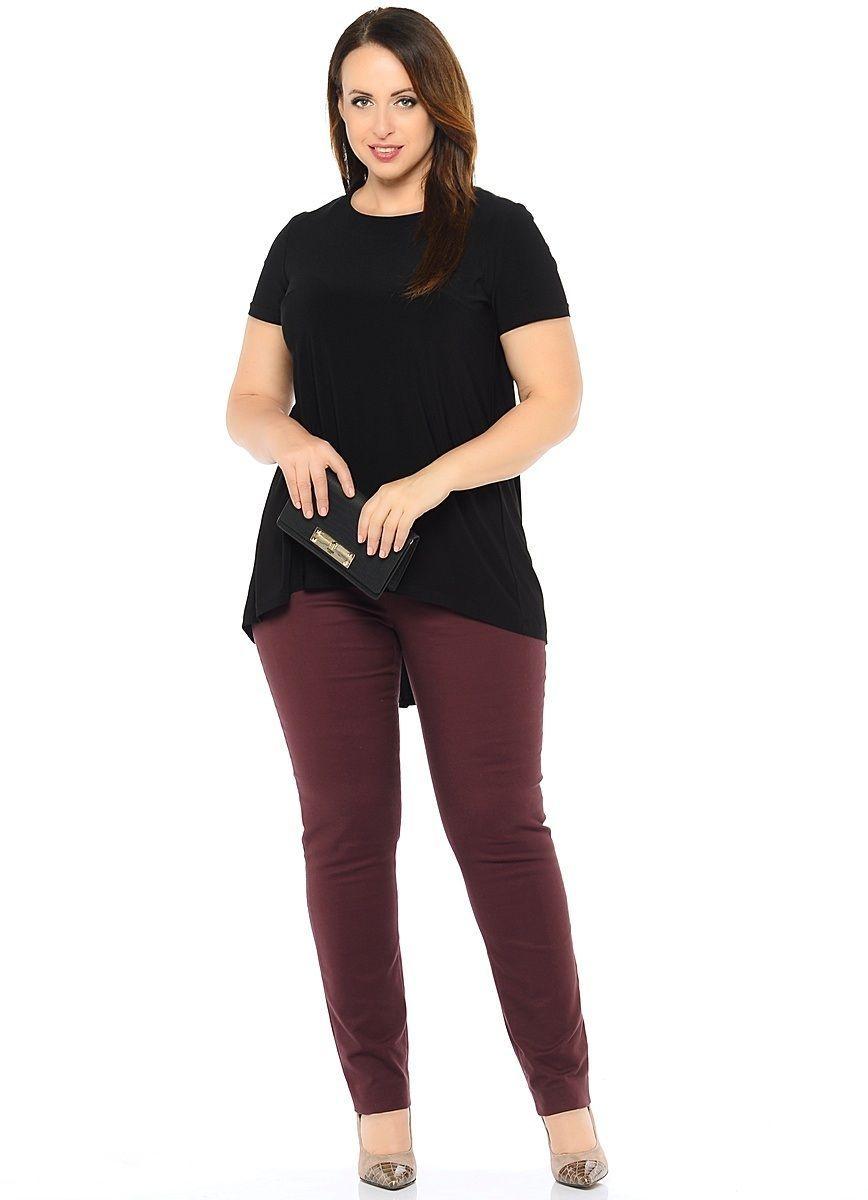 Туника женская Milton, цвет: черный. WP-6601F. Размер 48WP-6601FТрикотажная туника-блузон А-образного силуэта с короткими рукавами, по центру спинки - вставка из шифона в цвет основного материала. Круглый вырез горловины.