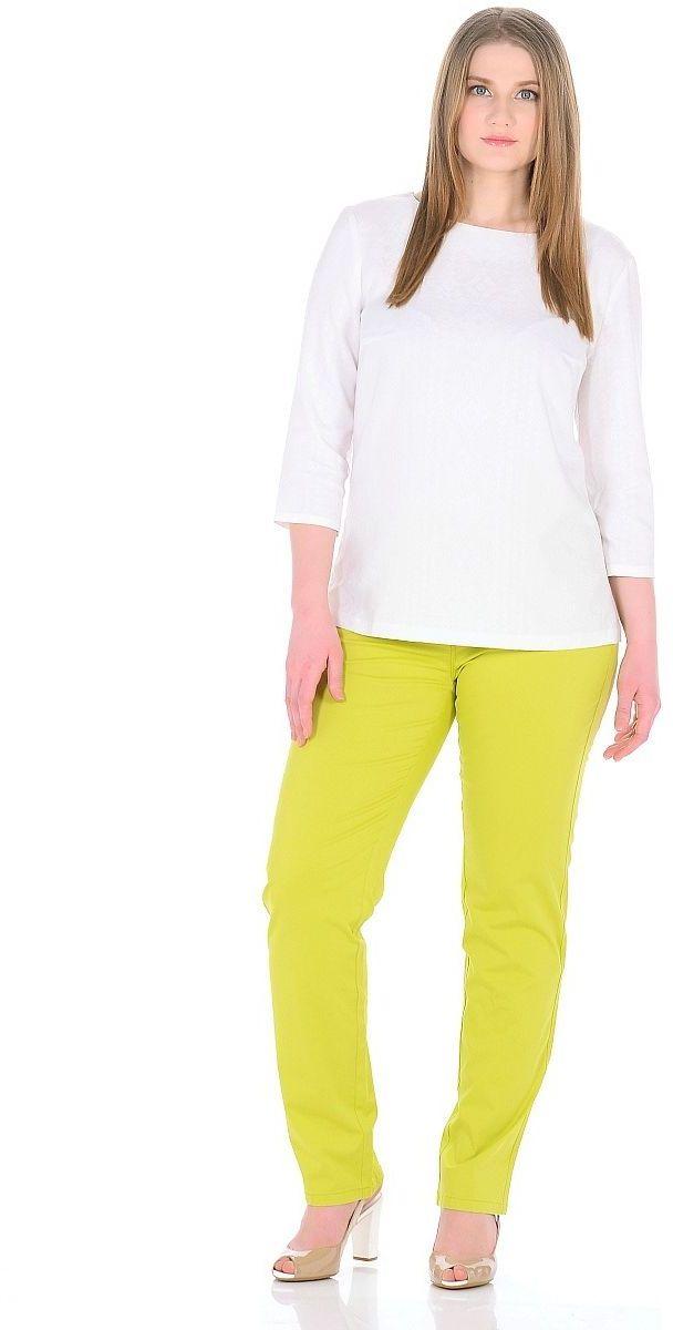 Брюки женские Milton, цвет: оливковый. WT-4705C. Размер 52WT-4705CБрюки обычной длины, зауженные к низу.