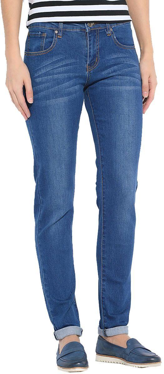 Джинсы женские Milton, цвет: синий. WZ-1001C-1. Размер 29-30 (44/46-30)WZ-1001C-1Стильные женские джинсы Milton выполнены из хлопка с добавлением полиэстера и спандекса. Материал мягкий на ощупь, не сковывает движения и позволяет коже дышать. На поясе предусмотрены шлевки для ремня. Джинсы со средней посадкой застегиваются на пуговицу в поясе и ширинку на застежке-молнии.