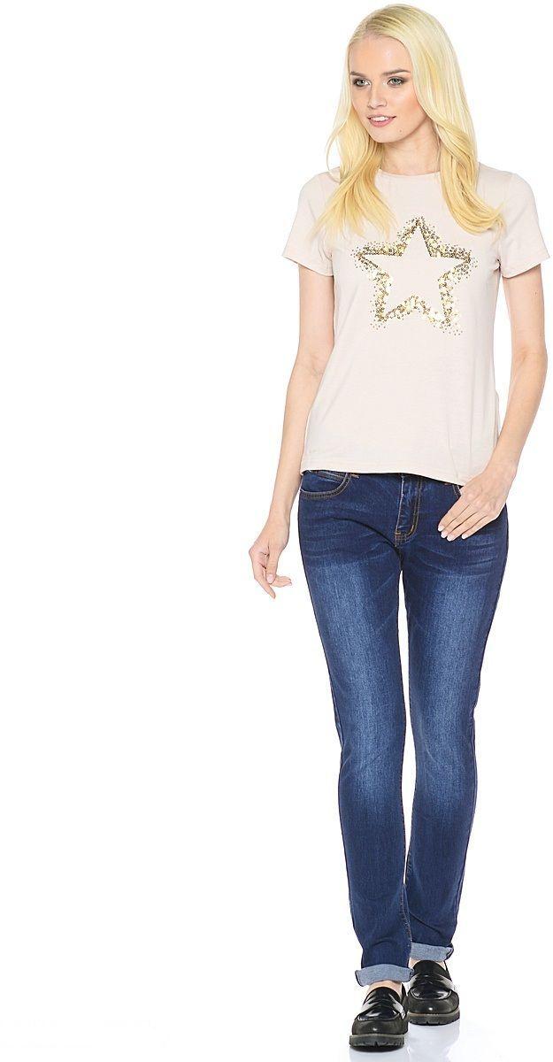 Джинсы женские Milton, цвет: темно-синий. WZ-1652C. Размер 30 (46)WZ-1652CСтильные женские джинсы Milton выполнены из хлопка с добавлением полиэстера и спандекса. Материал мягкий на ощупь, не сковывает движения и позволяет коже дышать. На поясе предусмотрены шлевки для ремня. Джинсы со средней посадкой застегиваются на пуговицу в поясе и ширинку на застежке-молнии.