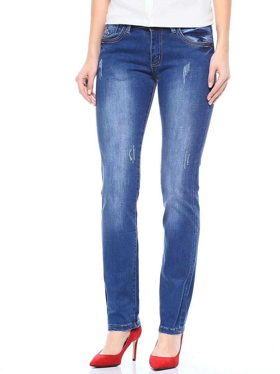 Джинсы женские Milton, цвет: синий. WZ-1656C. Размер 30 (46)WZ-1656CСтильные женские джинсы Milton выполнены из хлопка с добавлением полиэстера и спандекса. Материал мягкий на ощупь, не сковывает движения и позволяет коже дышать. На поясе предусмотрены шлевки для ремня. Джинсы со средней посадкой застегиваются на пуговицу в поясе и ширинку на застежке-молнии.