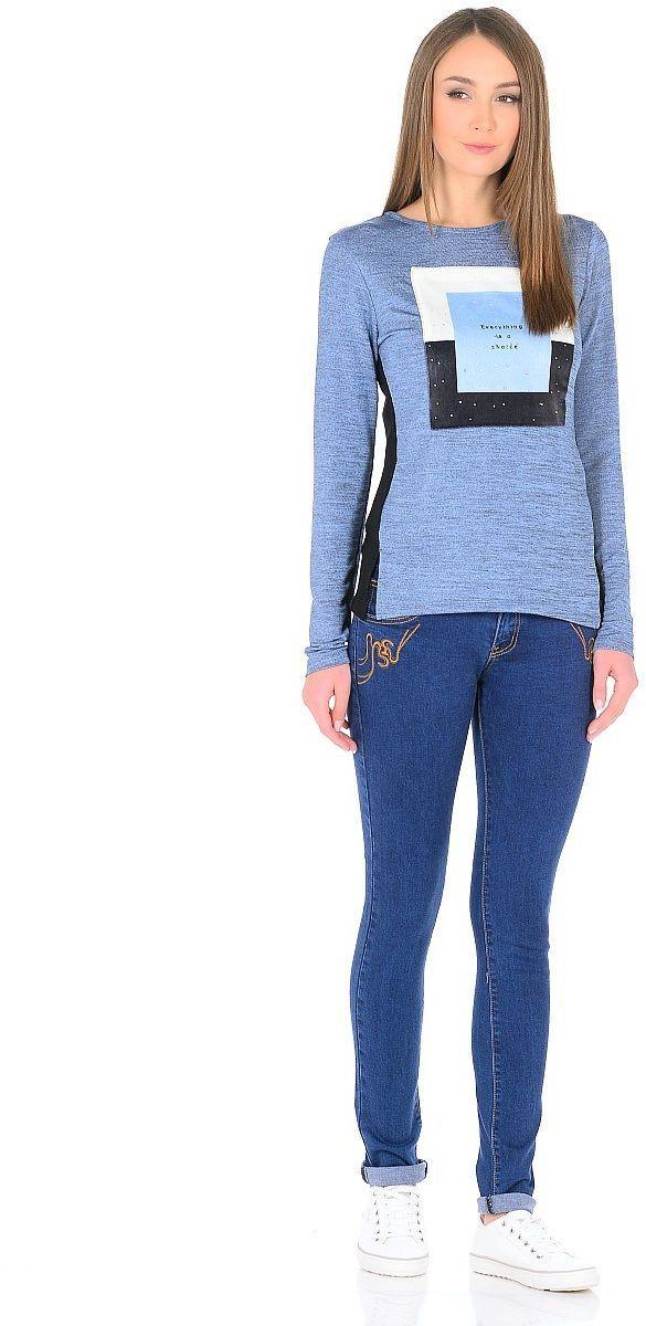Джинсы женские Milton, цвет: синий. WZ-1751C. Размер 28 (44)WZ-1751CСтильные женские джинсы Milton выполнены из хлопка с добавлением полиэстера и спандекса. Материал мягкий на ощупь, не сковывает движения и позволяет коже дышать. На поясе предусмотрены шлевки для ремня. Джинсы со средней посадкой застегиваются на пуговицу в поясе и ширинку на застежке-молнии.