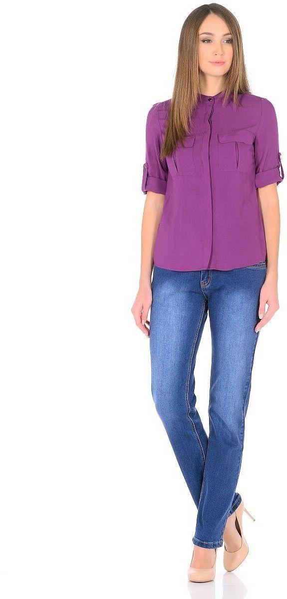 Джинсы женские Milton, цвет: синий. WZ-1753C. Размер 32 (48)WZ-1753CСтильные женские джинсы Milton выполнены из хлопка с добавлением полиэстера и спандекса. Материал мягкий на ощупь, не сковывает движения и позволяет коже дышать. На поясе предусмотрены шлевки для ремня. Джинсы со средней посадкой застегиваются на пуговицу в поясе и ширинку на застежке-молнии.