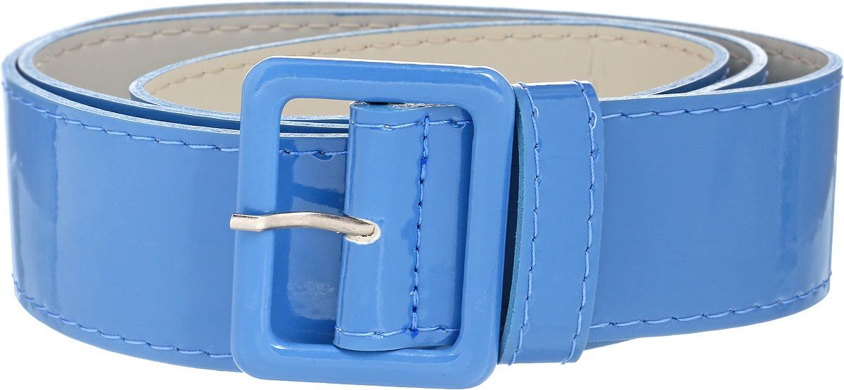 Ремень женский Vittorio Richi, цвет: голубой. 1004-40. Размер 1051004-40Ремень, выполненный из экокожи. Длина регулируется.