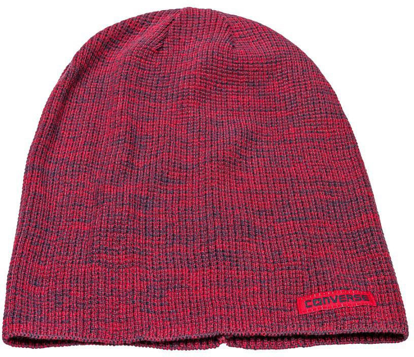 Шапка Converse Twisted Waffle Knit Beanie, цвет: красный. 486420. Размер универсальный486420Шапка Converse выполнена из качественного акрила. Модель дополнена нашивкой с названием бренда.