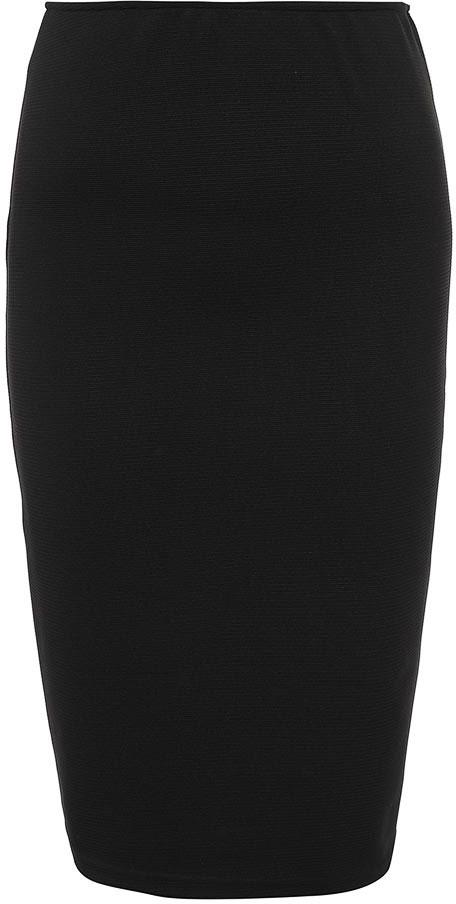 Юбка женская Baon, цвет: черный. B477039_Black. Размер XXL (52)B477039_BlackЮбка женская Baon выполнена из полиэстера и эластана. Модель длинной миди.