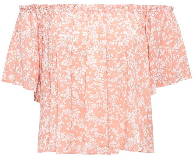 Топ женский Sela, цвет: пепельно-персиковый. Tws-312/1169-7213. Размер 44Tws-312/1169-7213Оригинальный женский топ Sela выполнен из качественного легкого материала и оформлен модным принтом. Модель прямого кроя подойдет для прогулок и дружеских встреч, будет отлично сочетаться с джинсами и брюками, а также гармонично смотреться с юбками. Верх изделия дополнен резинкой, которая позволяет носить топ, как на плече, так и спустив его ниже. Мягкая ткань комфортна и приятна на ощупь.