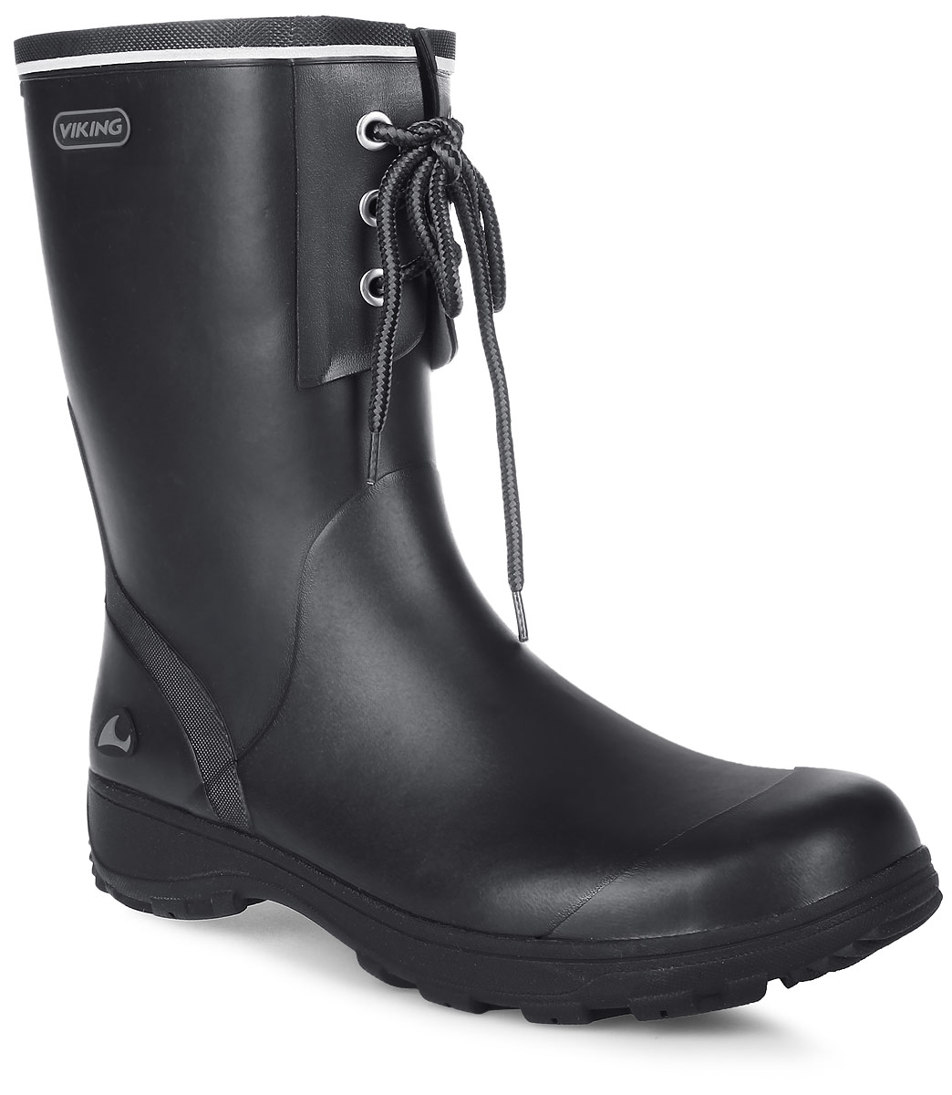 Сапоги резиновые для мальчика Viking Navigator II, цвет: черный. 1-24000-00250. Размер 411-24000-00250Модные резиновые сапоги от Viking - идеальная обувь в дождливую погоду для вашего мальчика. Модель с противоударным носком спереди оформлена декоративной шнуровкой. Внутренняя поверхность и стелька, выполненные из синтетического материала со скрученными волокнами, способствующими поддержанию тепла, комфортны при ходьбе. Светоотражающая полоска увеличивает безопасность вашего ребенка в темное время суток. Подошва с протектором гарантирует отличное сцепление с любой поверхностью. Резиновые сапоги - необходимая вещь в гардеробе каждого мальчика.
