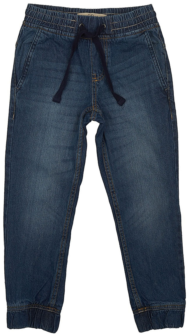 Джинсы для мальчика Sela Denim, цвет: темно-синий джинс. PJ-835/343-7243. Размер 128, 8 летPJ-835/343-7243Стильные джинсы для мальчика Sela выполнены из натурального хлопка. Джинсы свободного кроя и стандартной посадки на талии имеют широкий пояс на мягкой резинке, дополнительно регулируемый шнурком. Модель дополнена двумя втачными карманами спереди и двумя накладными карманами сзади. Низ брючин собран на резинку.