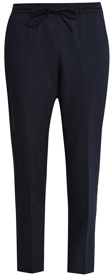 Брюки женские Sela, цвет: темно-синий. P-115/152-7152. Размер 42P-115/152-7152Стильные укороченные брюкиSela, изготовленные из качественного эластичного материала, станут отличным дополнением гардероба в летний период. Брюки силуэта морковь (свободные на бедрах, с зауженными к низу штанинами) и стандартной посадки на талии имеют широкий пояс на мягкой резинке, дополнительно регулируемый шнурком. Модель дополнена двумя втачными карманами спереди и прорезным карманом сзади.