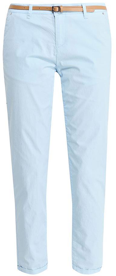 Брюки женские Sela, цвет: небесно-голубой. P-115/832-7233. Размер 44P-115/832-7233Стильные укороченные брюки-чиносSela, изготовленные из качественного эластичного материала, станут отличным дополнением вашего гардероба. Брюки стандартной посадки на талии застегиваются на застежку-молнию и пуговицу. На поясе имеются шлевки для ремня. Модель дополнена двумя втачными карманами спереди и двумя прорезными карманами сзади. В комплект с брюками входит узкий ремень из искусственной кожи.
