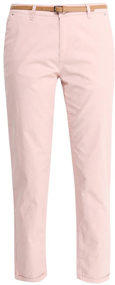 Брюки женские Sela, цвет: розовый. P-115/832-7233. Размер 46P-115/832-7233Стильные укороченные брюки-чиносSela, изготовленные из качественного эластичного материала, станут отличным дополнением вашего гардероба. Брюки стандартной посадки на талии застегиваются на застежку-молнию и пуговицу. На поясе имеются шлевки для ремня. Модель дополнена двумя втачными карманами спереди и двумя прорезными карманами сзади. В комплект с брюками входит узкий ремень из искусственной кожи.