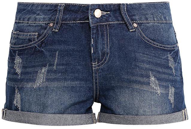 Шорты женские Sela Denim, цвет: синий джинс. SHJ-135/036-7213. Размер 29 (46)SHJ-135/036-7213Женские джинсовые шорты Sela, изготовленные из натурального хлопка с эффектом потертостей, станут отличным дополнением гардероба в летний период. Короткие шорты прямого кроя и стандартной посадки на талии застегиваются на застежку-молнию и пуговицу. На поясе имеются шлевки для ремня. Модель с отворотами дополнена двумя втачными и накладным карманами спереди и двумя накладными карманами сзади.