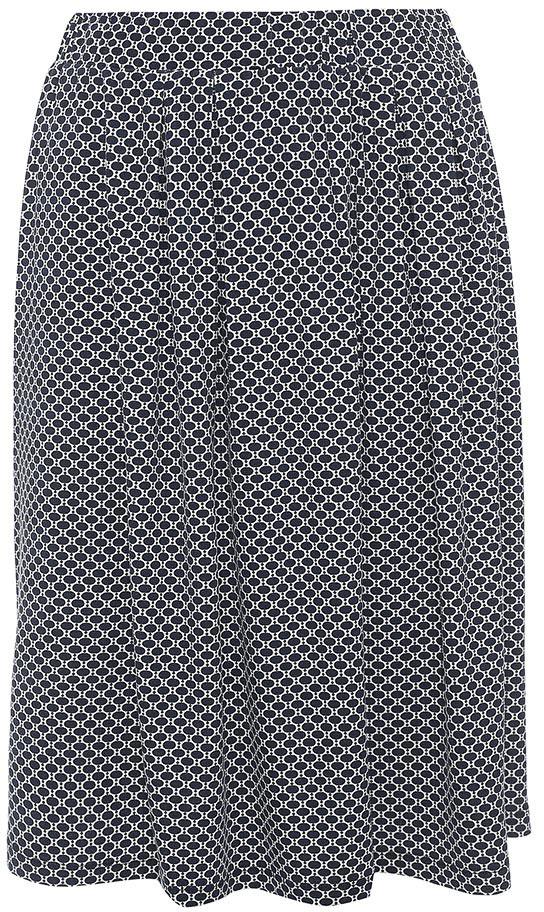 Юбка Sela, цвет: темно-синий. SKk-118/064-7254. Размер XS (42)SKk-118/064-7254Стильная женская юбка Sela выполнена из легкого струящегося материала и оформлена контрастным принтом. Модель средней длины расклешенного кроя с поясом на мягкой резинке подойдет для офиса, прогулок и дружеских встреч и станет отличным дополнением гардероба. Мягкая ткань на основе вискозы и эластана комфортна и приятна на ощупь.