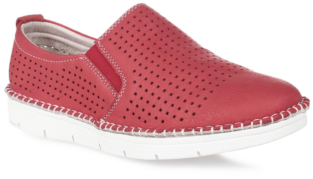 Слипоны женские Francesco Donni, цвет: красный. P415 549MS-C93-03G51. Размер 39P415 549MS-C93-03G51Стильные и невероятно удобные женские слипоны выполнены из натуральной перфорированной кожи. Эластичные вставки на подъеме обеспечат надежную фиксацию модели на ноге. Рифленая подошва обеспечивает отличное сцепление с поверхностью.